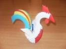 Символ года - петух - в технике модульного оригами_1