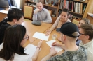 Участники интеллектуальной игры «Библиогений» - представители молодого поколения читателей библиотеки