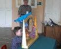 Воспитанники школы-интерната с удовольствием принимали участие в процессе театрализации сказок и играли перчаточными куклами