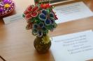 Работа, представленная на выставке творческих работ инвалидов:  Марина Баушева «Цветы» (бисероплетение)