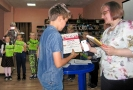 Победитель Чемпионата по скорочтению «Лига глотателей текста» в категории от 7 до 12 лет Александр Загорский (Центральная детская библиотека)