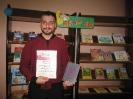 Победитель Чемпионата по скорочтению «Лига глотателей текста» в категории от 18 лет и старше Кагилев Михаил (Центральная детская библиотека)