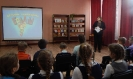 Участники литературно-игровой программы просмотрели сюжеты детского юмористического киножурнала «Ералаш», снятые по рассказам Виктора Драгунского