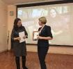 Награждение участницы творческого проекта «Пиши! Читай!» Анны Семионкиной