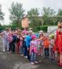 В ходе программы дети играли в русскую народную игру «Ручеек»