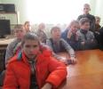 Учащиеся школы № 18 поселка Чернореченск на мероприятиии по патриотическому воспитанию в Бибилиотеке № 6