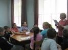 Участники литературной программы «Путешествие в Лукоморье» в Библиотеке № 10 района Медная Шахта