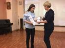 Награждение участницы творческого проекта «Пиши! Читай!» Марии Площенко