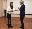 Награждение участницы творческого проекта «Пиши! Читай!» Яны Дунаевой