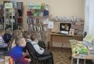Участники литературного часа, посвященного Дню детского кино посмотрели мультфильм про домовенка Кузьку