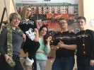 Команда «Театрального десанта» провела зажигательный «Голубой огонек» и мастер-класс по созданию новогодних игрушек для своих подопечных - ветеранов Богословского алюминиевого завода