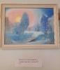 Выставка картин Кустовой Софьи в Библиотеке № 2 поселка Воронцовка. «Зимний вечер» (холст, масло). 2019 год.