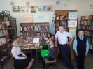 Участники библиотечного урока в Библиотеке № 2 поселка Воронцовка