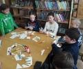 Участники акции «Пушкин в ладошке» в Библиотеке № 2 поселка Воронцовка