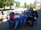 Летний читальный зал под открытым небом на площадке возле Центральной детской библиотеки