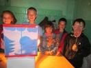Участники театрализованной постановки сказки «Колобок» в Библиотеке № 6 поселка Чернореченск