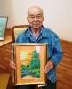 Федор Тылик с картиной «Закат»