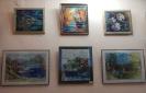 Выставка творческих работ в технике шерстяная живопись и акватипия преподавателей Екатеринбургской гимназии «Арт-этюд»