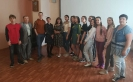 Участники мастер-класса по актерскому мастерству от студента Санкт-Петербургского университета культуры и искусства Романа Сенина в Центральной городской библиотеке