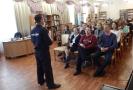 Встреча старшеклассников школы № 23 с капитаном полиции Михаилом Куштановым, посвященная Дню солидарности в борьбе с терроризмом