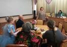 Постоянная гостья библиотечных творческих мероприятий Наталья Пауль