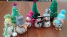 Новогодние игрушки, созданные участницами мастер-класса в библиотеке № 8