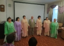 Вокальный ансамбль «Гармония» общества инвалидов проникновенно исполнил песни для участников праздничной программы