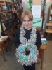 Участница новогоднего мастер-класс в библиотеке № 2 поселка Воронцовка Веста Габдуллина