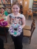 Участница новогоднего мастер-класс в библиотеке № 2 поселка Воронцовка Лиза Степанова