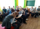 Участники акции, посвященной Всемирному дню чтения вслух