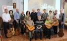 Участники концерта авторской песни в центральной городской библиотеке