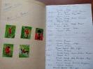 Спортивный альбом Александра Федоровича Руш с записями о футбольных матчах