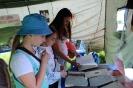 Посетители исторической избы-читальни от центральной городской библиотеки